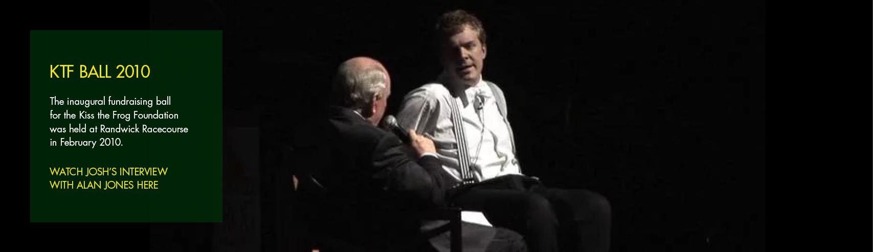 Alan Jones Interview at KTF Ball 2010
